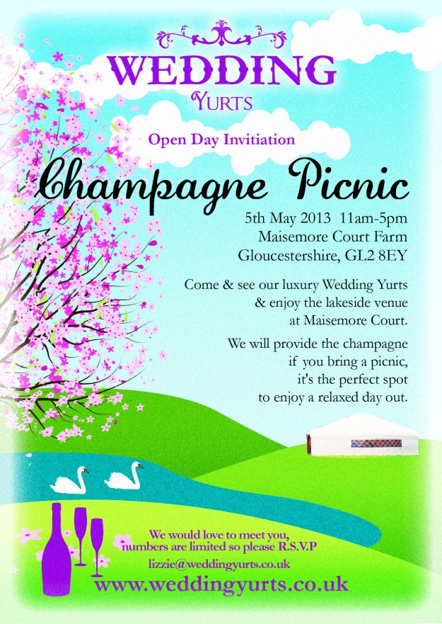 Champagne Picnic ~ WeddinG Yurts Open Day!