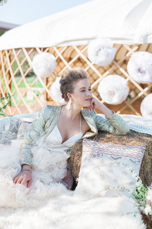 Wedding Yurts - Spring - Styling - Luxury - Sequins - Couture - Outdoor Weddings - Yurt hire