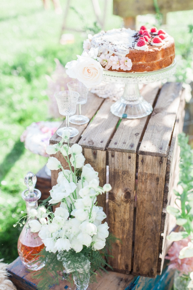 Wedding Cake - Styling - Wedding Yurts - Lizzie Jones - Spring Shoot - Wedding Flowers - Outdoor Wedding
