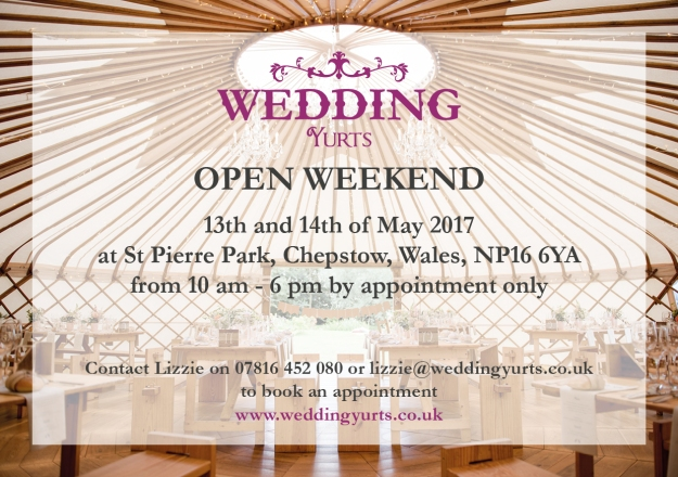 Wedding Yurts Invitation Open Weekend